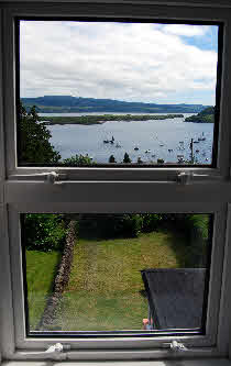 View from an upper window in The Rowans Sef Catering Tobermory
